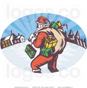 royalty-free-santa-with-presents-logo-by-patrimonio-2872